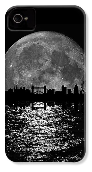 Moonlight London Skyline IPhone 4s Case by Mark Rogan