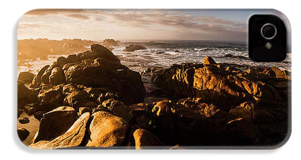 IPhone 4s Case featuring the photograph Morning Ocean Panorama by Jorgo Photography - Wall Art Gallery