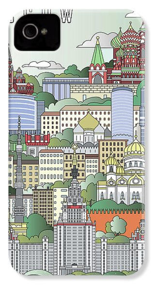 Moscow City Poster IPhone 4s Case