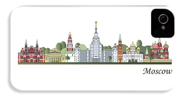 Moscow Skyline Colored IPhone 4s Case