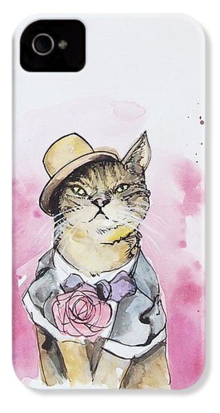 Mr Cat In Costume IPhone 4s Case by Venie Tee