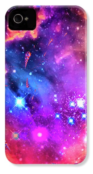 Multi Colored Space Chaos IPhone 4s Case