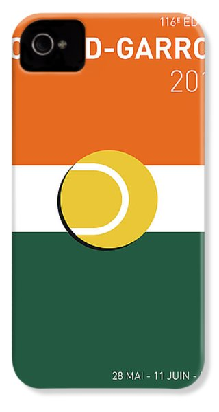 My Grand Slam 02 Rolandgarros 2017 Minimal Poster IPhone 4s Case by Chungkong Art