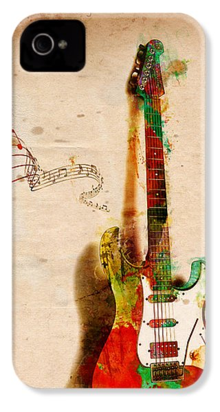 My Guitar Can Sing IPhone 4s Case by Nikki Smith