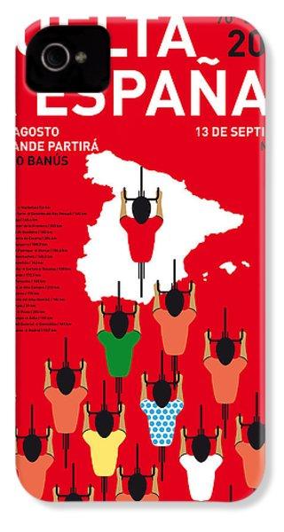 My Vuelta A Espana Minimal Poster Etapas 2015 IPhone 4s Case by Chungkong Art