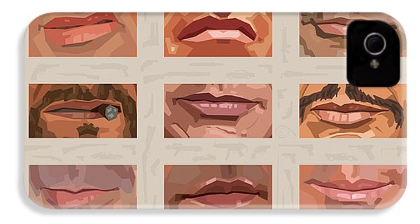 Mystery Mouths Of The Action Genre IPhone 4s Case by Mitch Frey