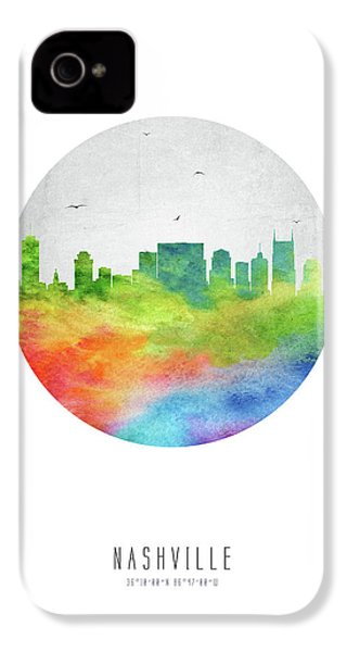Nashville Skyline Ustnna20 IPhone 4s Case by Aged Pixel