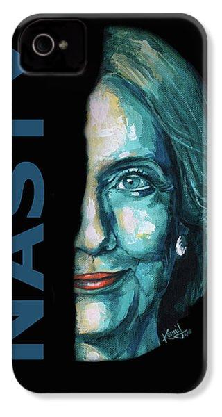Nasty - Hillary Clinton IPhone 4s Case by Konni Jensen