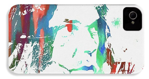 Neil Young Paint Splatter IPhone 4s Case by Dan Sproul