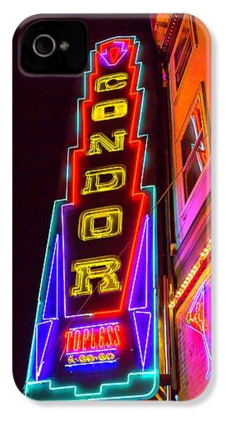 Neon Condor San Francisco IPhone 4s Case by Garry Gay