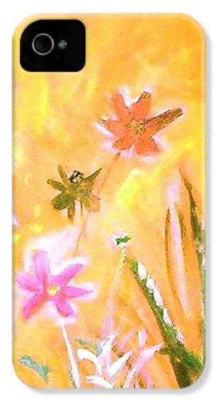 New Daisies IPhone 4s Case by Winsome Gunning