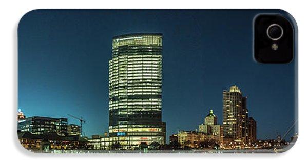 IPhone 4s Case featuring the photograph New Milwaukee Skyline by Randy Scherkenbach