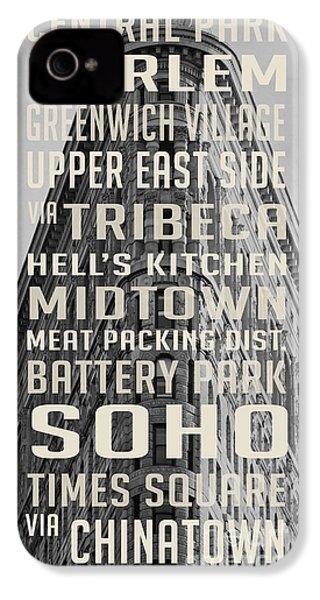 New York City Subway Stops Flat Iron Building IPhone 4s Case by Edward Fielding