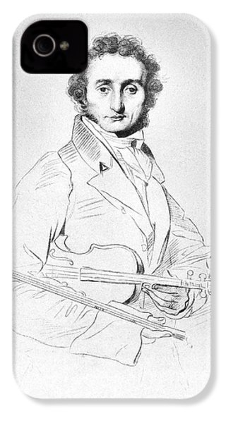 Nicolo Paganini (1782-1840) IPhone 4s Case by Granger