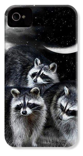 Night Bandits IPhone 4s Case by Carol Cavalaris