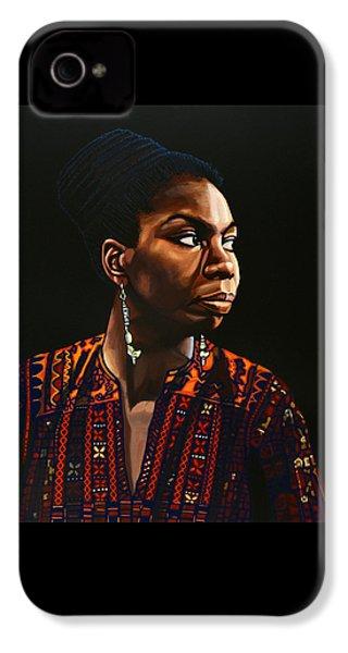 Nina Simone Painting IPhone 4s Case by Paul Meijering