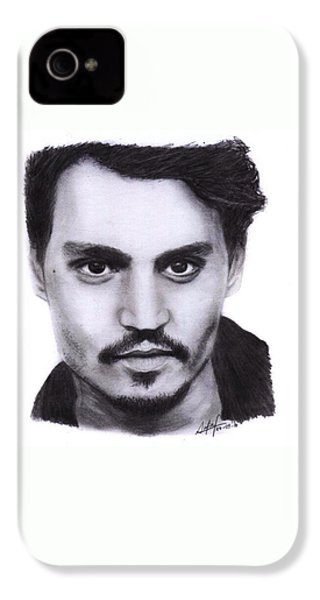 Johnny Depp Drawing By Sofia Furniel IPhone 4s Case
