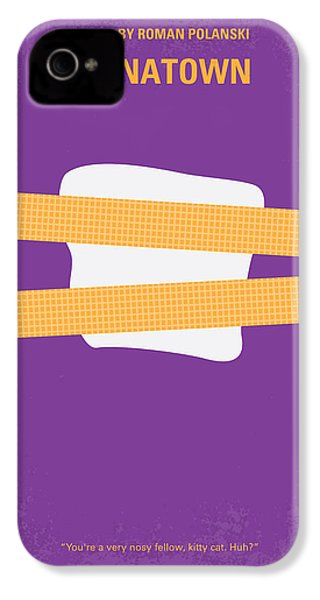 No015 My Chinatown Minimal Movie Poster IPhone 4s Case by Chungkong Art