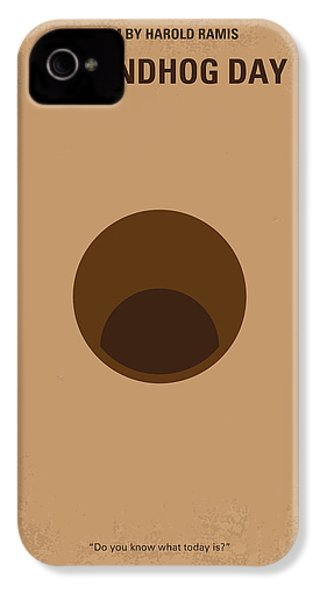 No031 My Groundhog Minimal Movie Poster IPhone 4s Case by Chungkong Art