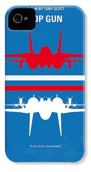 No128 My Top Gun Minimal Movie Poster IPhone 4s Case by Chungkong Art
