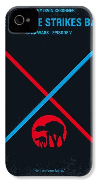 No155 My Star Wars Episode V The Empire Strikes Back Minimal Movie Poster IPhone 4s Case by Chungkong Art