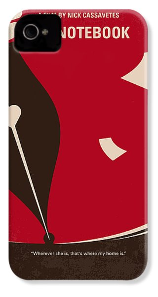 No440 My The Notebook Minimal Movie Poster IPhone 4s Case by Chungkong Art