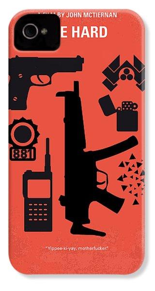 No453 My Die Hard Minimal Movie Poster IPhone 4s Case
