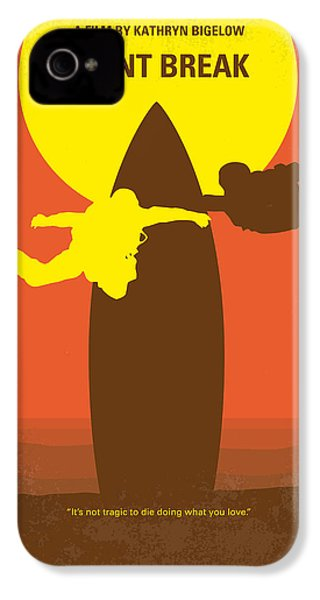 No455 My Point Break Minimal Movie Poster IPhone 4s Case by Chungkong Art