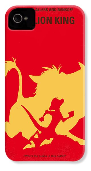 No512 My The Lion King Minimal Movie Poster IPhone 4s Case