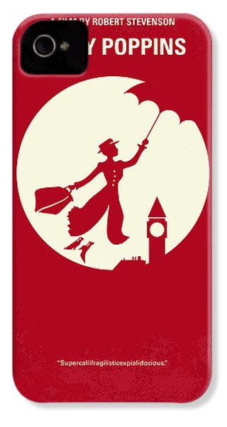 No539 My Mary Poppins Minimal Movie Poster IPhone 4s Case by Chungkong Art