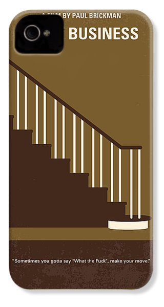 No615 My Risky Business Minimal Movie Poster IPhone 4s Case by Chungkong Art