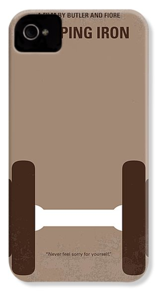 No707 My Pumping Iron Minimal Movie Poster IPhone 4s Case by Chungkong Art