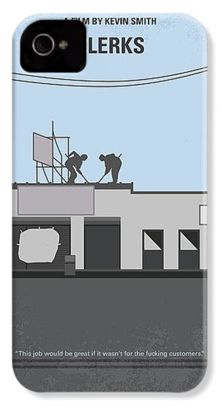 No715 My Clerks Minimal Movie Poster IPhone 4s Case by Chungkong Art