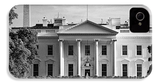 north facade from pennsylvania avenue the white house with washington monument in the background Was IPhone 4s Case by Joe Fox