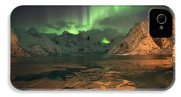 Northern Light In Lofoten, Nordland 1 IPhone 4s Case by Dubi Roman