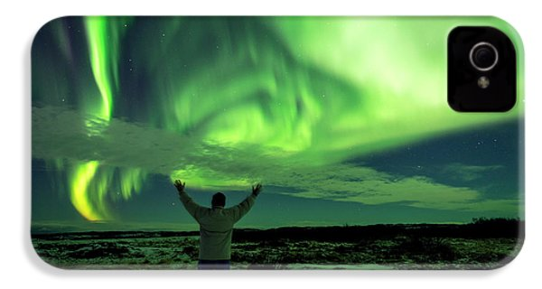 Northern Light In Western Iceland IPhone 4s Case by Dubi Roman