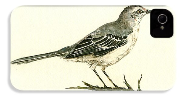 Northern Mockingbird IPhone 4s Case by Juan  Bosco