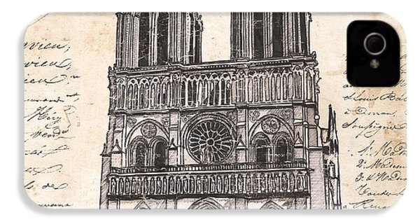 Notre Dame De Paris IPhone 4s Case by Debbie DeWitt