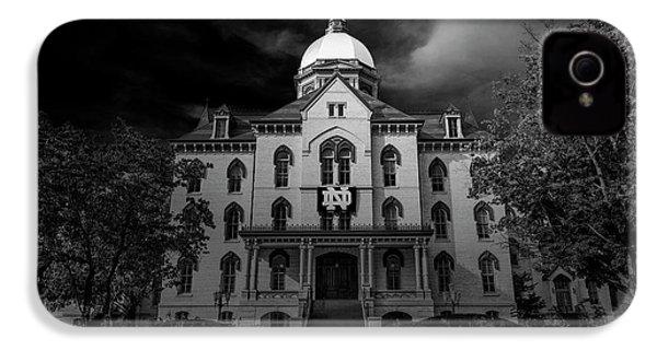 Notre Dame University Black White 3a IPhone 4s Case by David Haskett