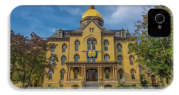 Notre Dame University Golden Dome IPhone 4s Case by David Haskett