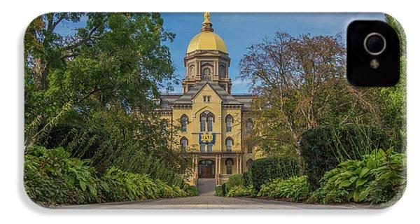 Notre Dame University Q IPhone 4s Case by David Haskett