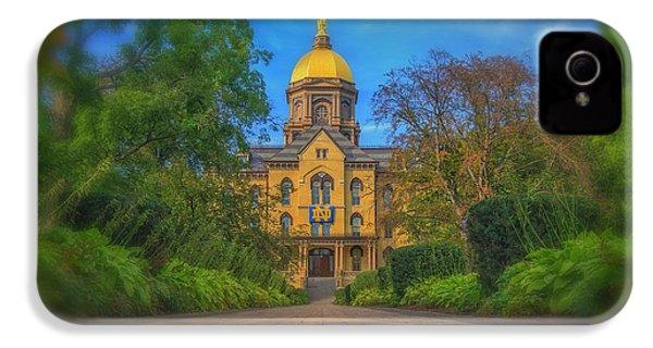 Notre Dame University Q2 IPhone 4s Case by David Haskett