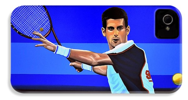 Novak Djokovic IPhone 4s Case by Paul Meijering