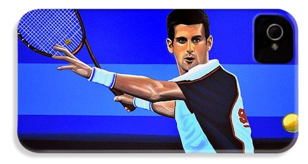 Novak Djokovic IPhone 4s Case by Paul Meijering