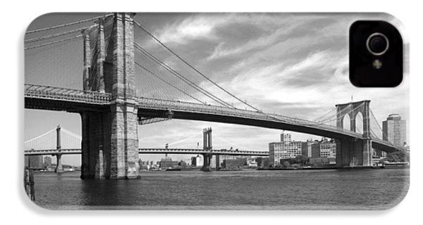 Nyc Brooklyn Bridge IPhone 4s Case by Mike McGlothlen