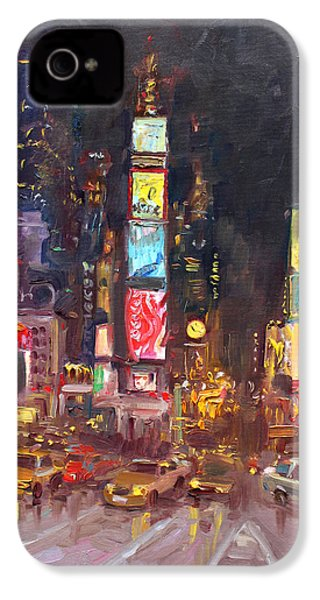 Nyc Times Square IPhone 4s Case by Ylli Haruni