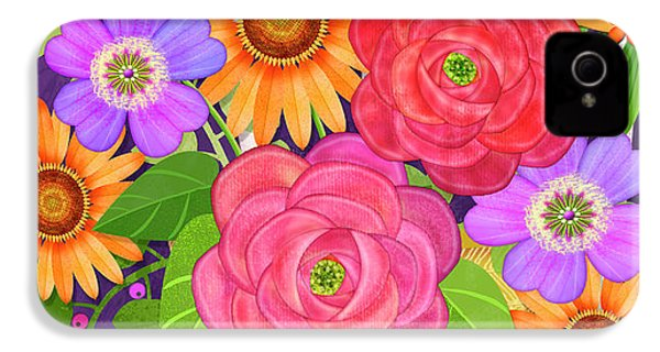 On The Bright Side - Flowers Of Faith IPhone 4s Case
