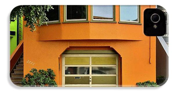 Orange House IPhone 4s Case by Julie Gebhardt