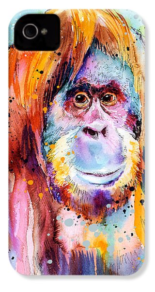 Orangutan  IPhone 4s Case by Slavi Aladjova
