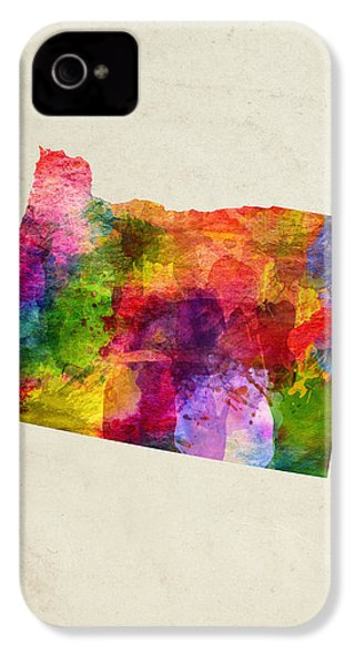Oregon State Map 02 IPhone 4s Case by Aged Pixel